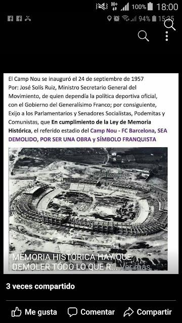 También tienen que derribar el Camp Nou