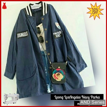AND294 Jaket Wanita Parka Los Angeles Biru BMGShop