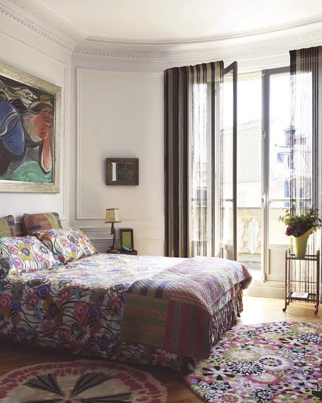 Missoni Home Paris decor inspiration | the colorful apartment rosita missoni in paris