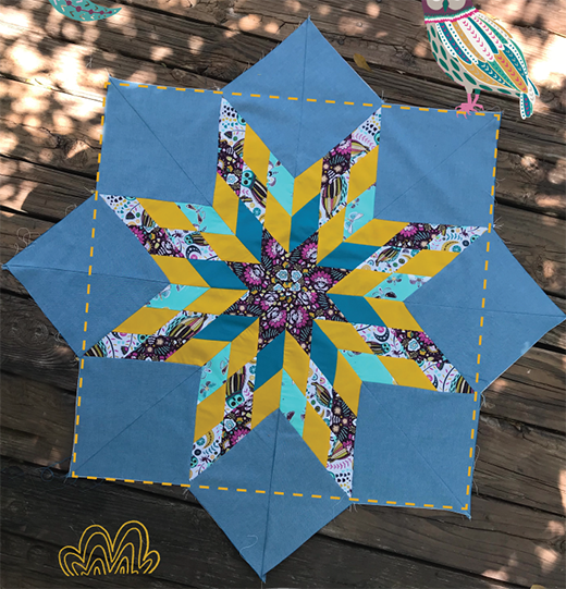 Lone Star Quilt Free Tutorial designed by Laucara of art gallery fabrics