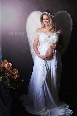 ensaio de gravida de anjo