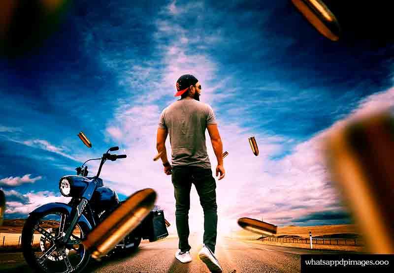 biker boy whatsapp dp image