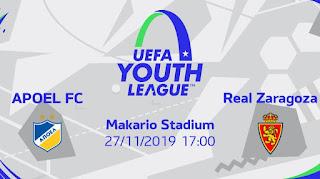Λεπτομέρειες του αγώνα APOEL FC VS Real Zaragoza για το UEFA Youth League