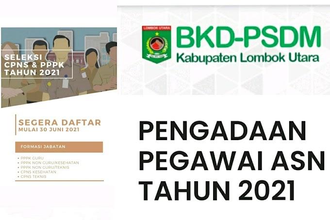 Pendaftaran CPNS dan PPPK Lombok Utara 2021 Telah Dibuka, Intip Formasinya