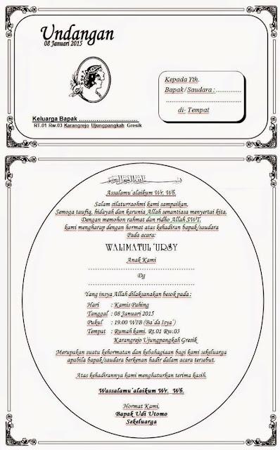 Contoh Undangan Pernikahan (via: penganten.com)