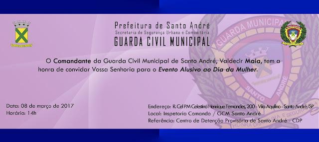 Guarda Civil de Santo André promove evento Alusivo ao Dia Internacional da Mulher