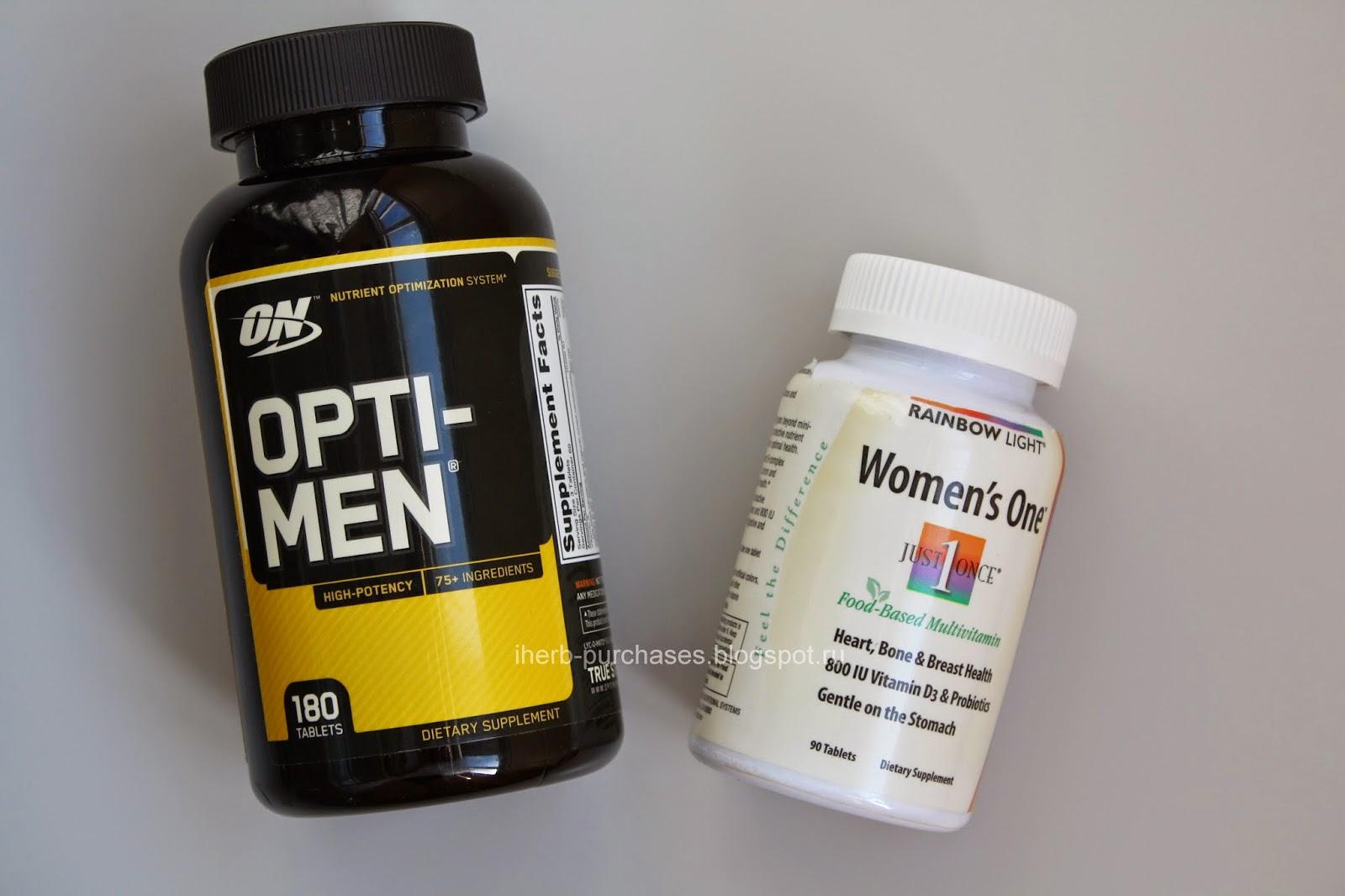 витамины для женщин, витамины для мужчин, спортивное питание, отзыв, iherb