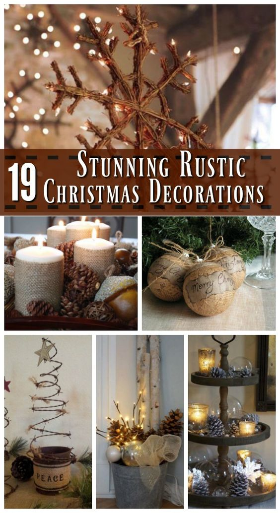 Stunning Rustic Christmas Decorating Ideas