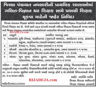 District Panchayat Primary School Navsari Pravasi Teacher Recruitment 2020