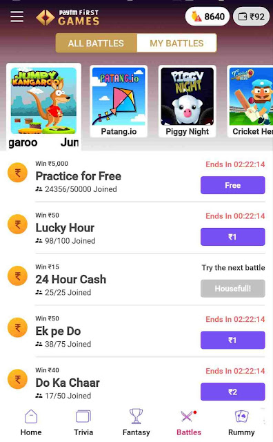 Guide how to earn money by playing Paytm Games   best alternative of MPL - InfoAdda