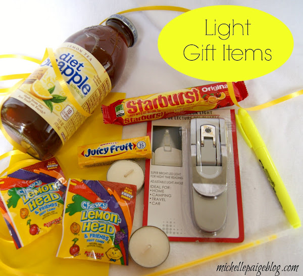 Items to put in a 'light' gift.