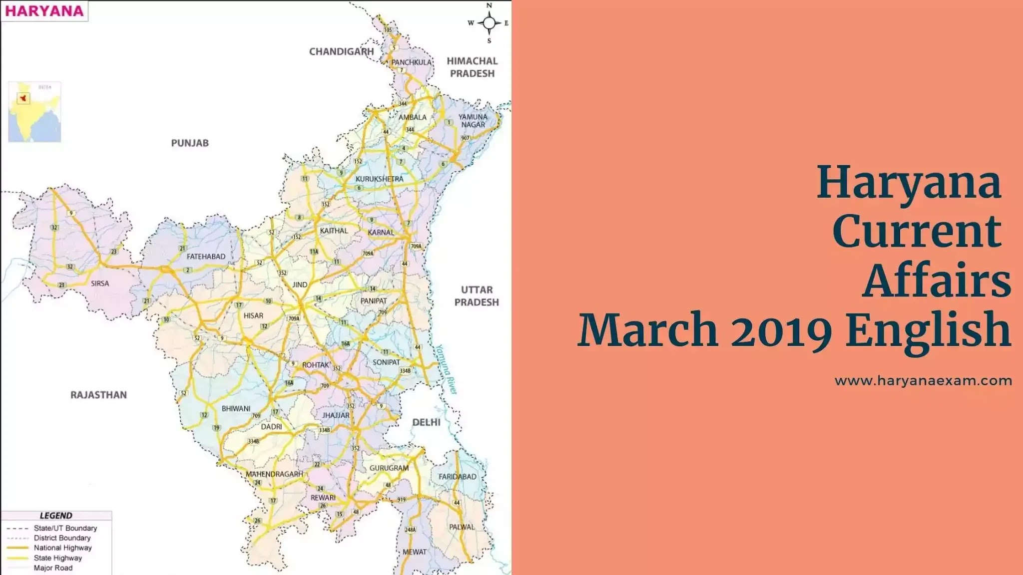 Haryana Current Affairs March 2019 in English