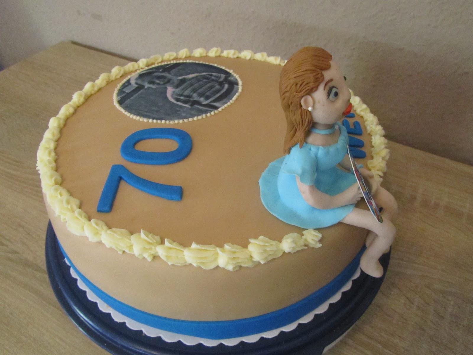 70 Geburtstag Fondant Torte Mit Figur Und Torten Foto Anke S