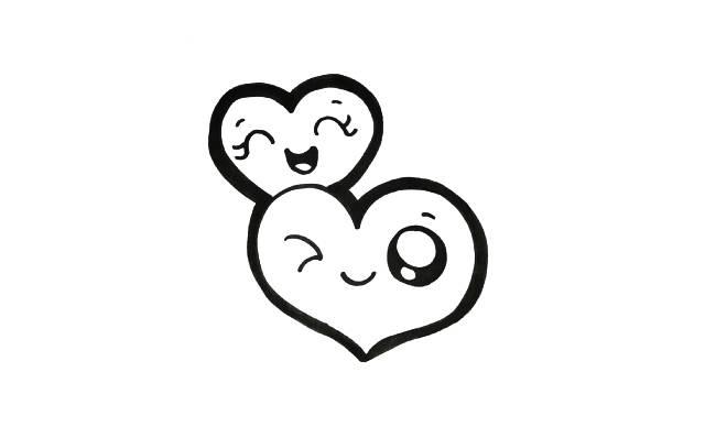 dibujos faciles y bonitos de corazones