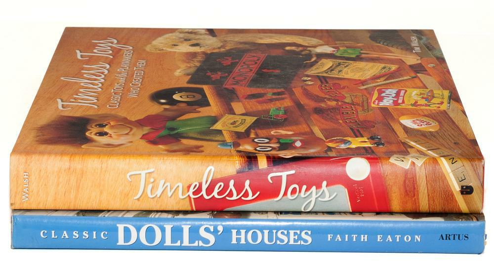 Collectors books on toys and Dollhouses.