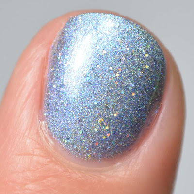 holographic blue nail polish swatch