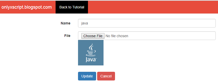 File Edit or Updating Form