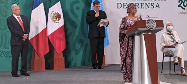Discurso de la Directora Ejecutiva de ONU Mujeres, Phumzile Mlambo-Ngcuka, durante la ceremonia de apertura del Foro de Igualdad de Género en Ciudad de México.ONU México/Luis Arroyo