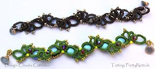 "Tatted bracelet ""Astrid"""