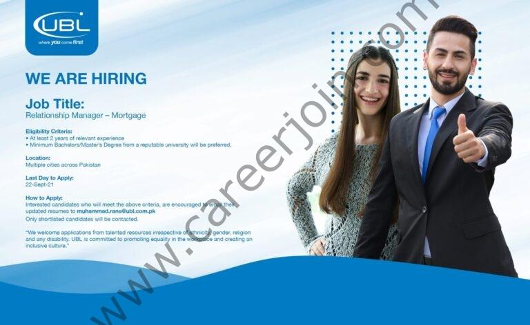 muhammad.rana@ubl.com.pk - United Bank Limited UBL Jobs 2021 in Pakistan
