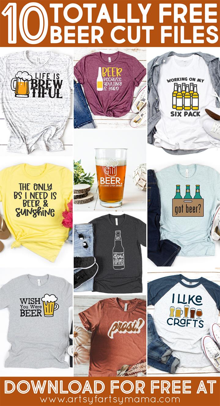 10 Free Beer Cut Files