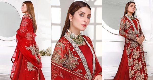 Ayeza Khan in Red Dress