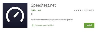 aplikasi tes kecepatan internet speedtest.net