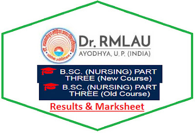 RMLAU B.Sc Nursing Part 3 Result 2021