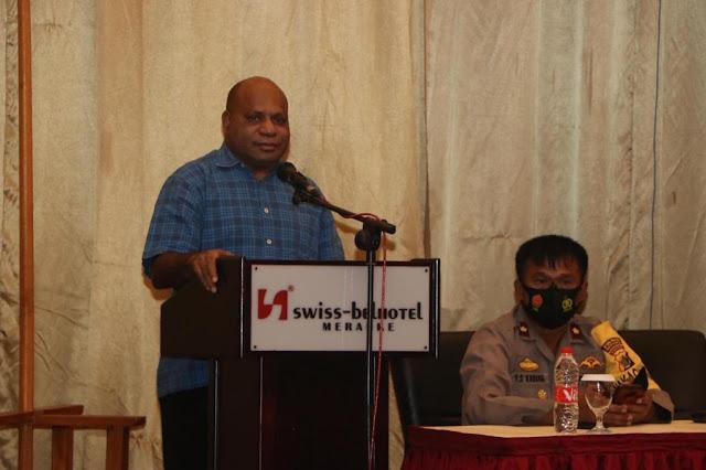 Mathias Fakhiri Gelar Tatap Muka Bersama Personil Polres Merauke
