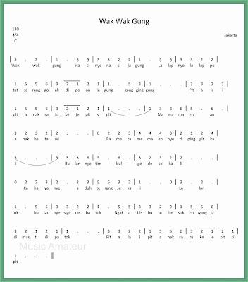 not angka lagu wak wak gung