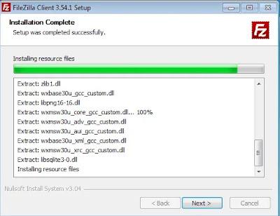 Proses Install FileZilla