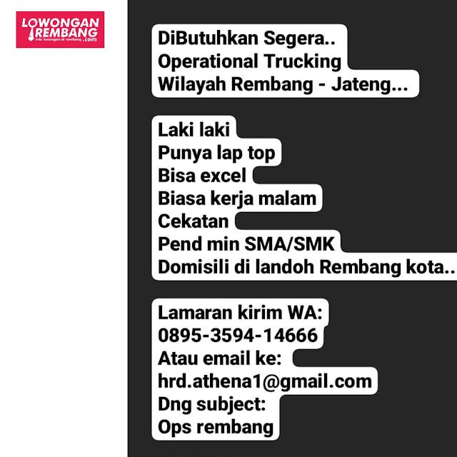 Lowongan Kerja Operational Trucking Wilayah Rembang-Jateng