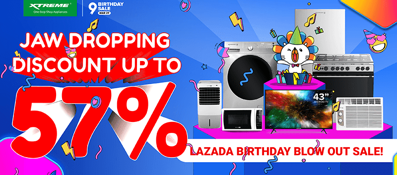 XTREME is joining Lazada's Birthday Blowout and Shopee's Mega Free Shipping Sale!