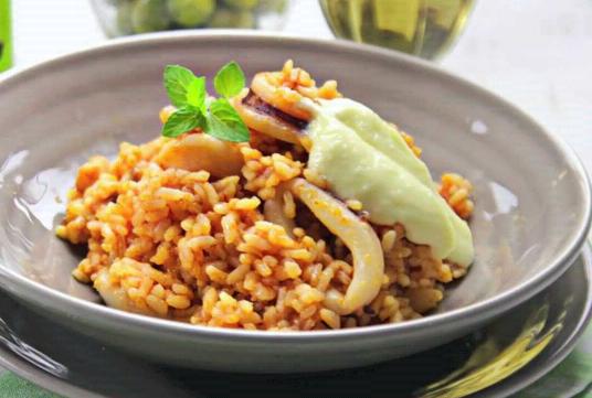 presentacion de arroz a banda