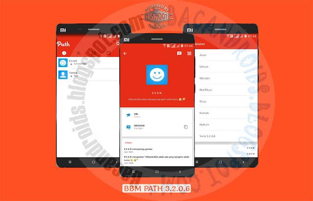 BBM mod Path Style Teme v3.2.0.6 Apk terbaru