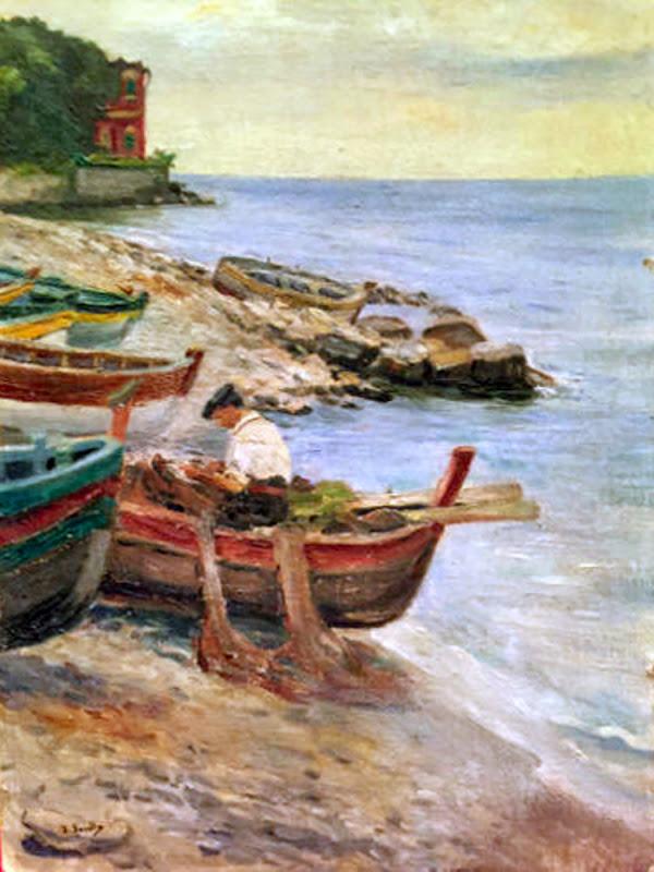 Pescador llegando a Puerto, Joaquín Sorolla Bastida, Paisajes de Joaquín sorolla, Pintor español, Joaquín Sorolla