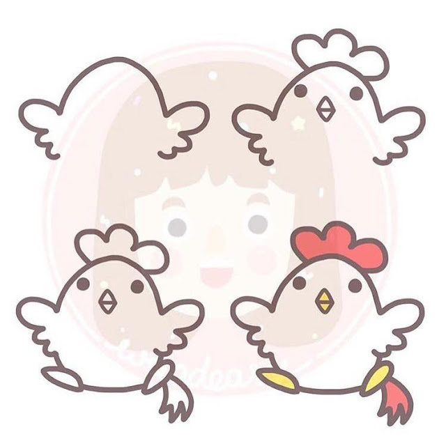 Cara menggambar ayam jago untuk anak-anak