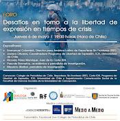 """Jueves 6 de mayo: Foro """"Desafíos en torno a la libertad de expresión en tiempos de crisis"""""""
