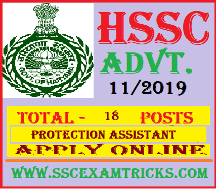 HSSC Protection Assistant Recruitment
