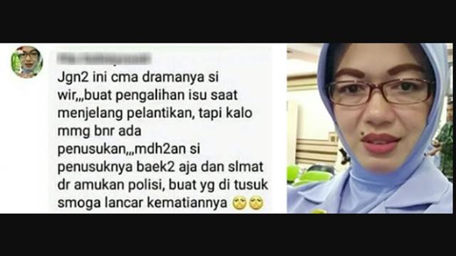 "Postingan Nyinyir Istri TNI ke Wiranto, ""Semoga Lancar Kematiannya"""