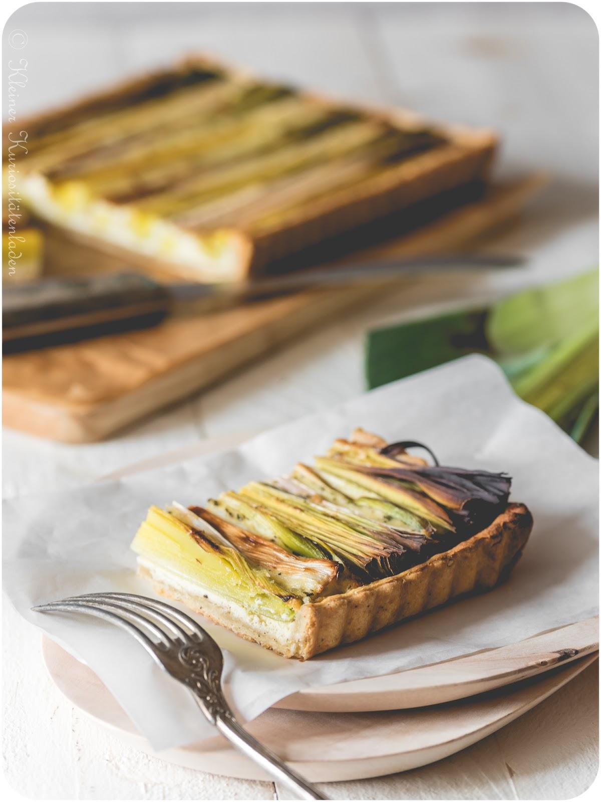 Tarte aux poireaux | Lauchtarte mit Gruyère
