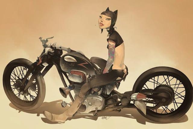 Cat Girl by Otto Schmidt