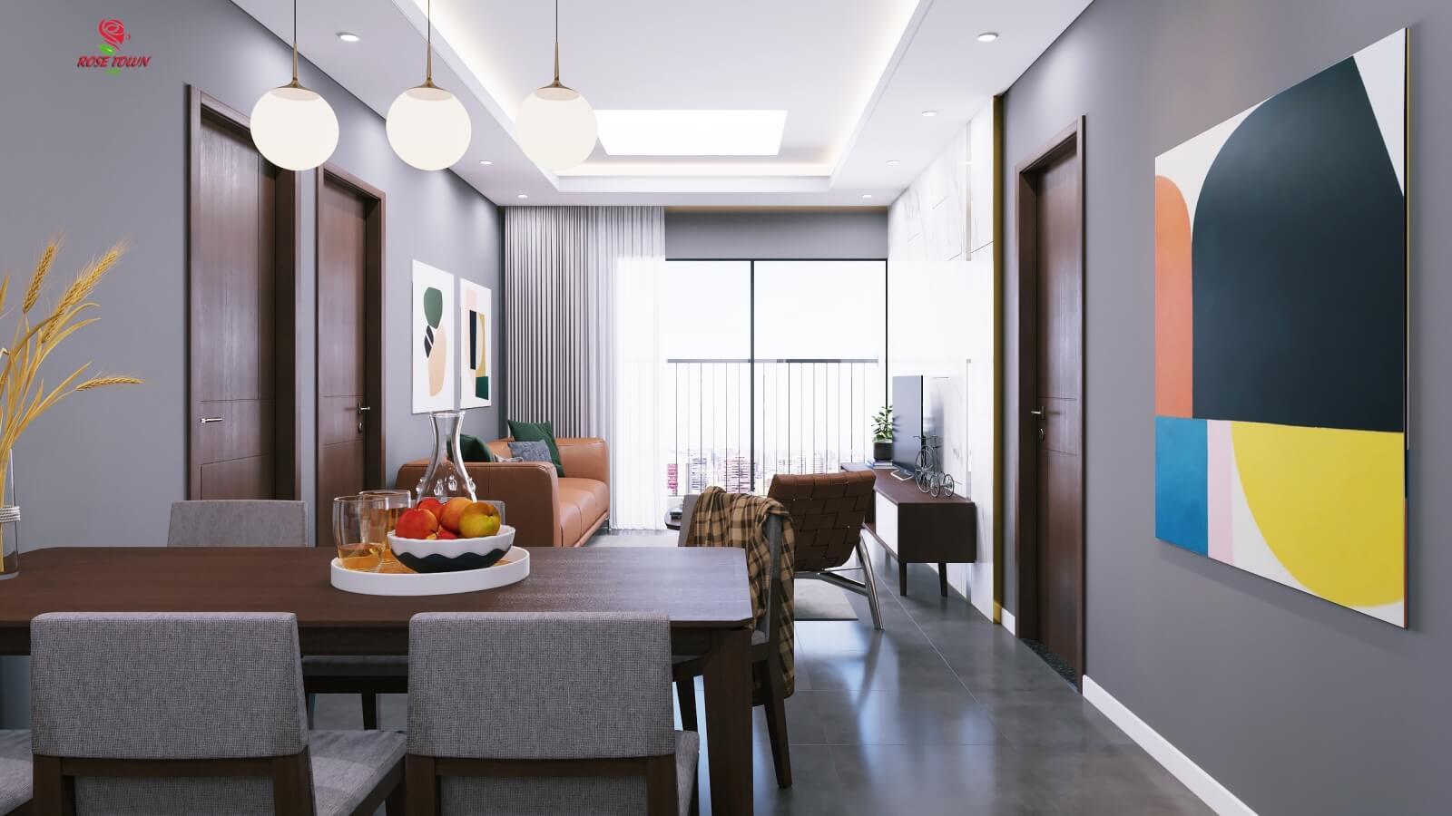 Nội thất căn hộ chung cư Rose Town cao cấp
