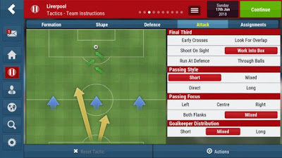 Football Manager Mobile 2018 Tactics