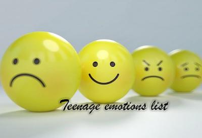 Teenage emotions list