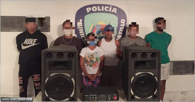Seis malandritos detenidos por hacer una rumba durante la cuarentena en El Hatillo
