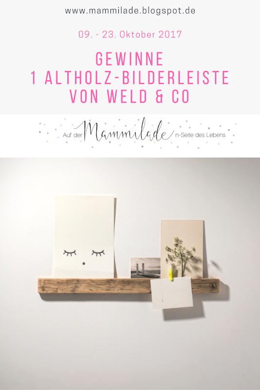 Giveaway & Gestaltungsidee für eine wild-harmonisch-natürliche Wanddeko mit Bildern und Holz - www.mammilade.blogspot.de