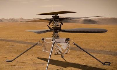 Pela primeira vez na história a humanidade realiza voo em outro planeta (Marte)