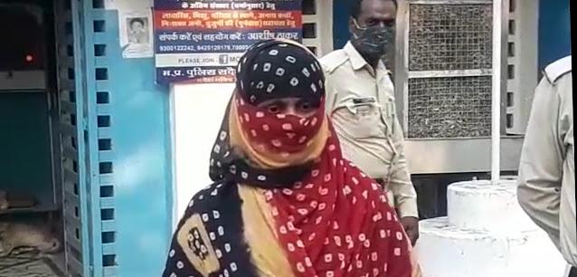 पति की हत्या करने पर पत्नी गिरफ्तार