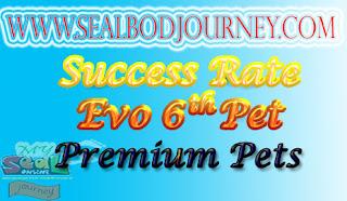 Tingkat Kesuksesan Evolusi Premium Pets Seal Online BoD